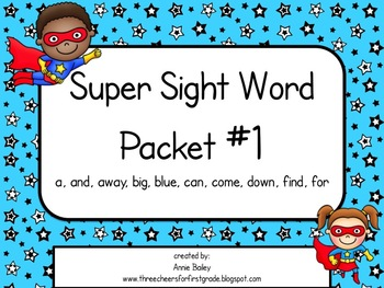 Sight Word Activity Packet #1