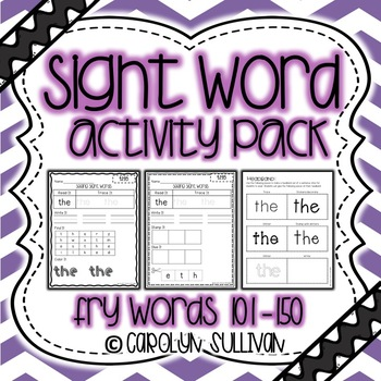 Sight Word Activity Packet- Fry Words 101-150