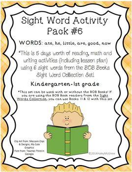 Sight Word Activity Set #6 Reading, Math, Writing BOB Books