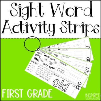 Sight Word Activity Strips: First Grade Words