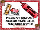 Audio Sight Word QR Codes: Listen, Read, Match & Write - F
