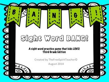 Sight Word BANG! for Third Grade
