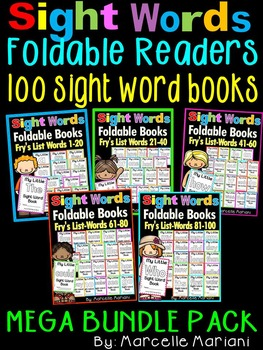 Sight Words BOOKS BUNDLE-100 SIGHT WORD READERS- Fry's Fir
