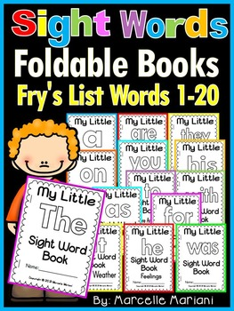 Sight Word BOOKS- Fry's 1st 20 words (21 Foldable Sight Wo