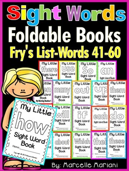 Sight Word BOOKS- Fry's list words 41-60 (Foldable Sight W