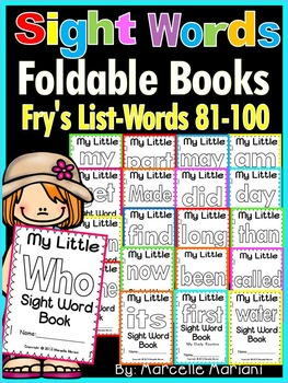 Sight Word BOOKS- Fry's list words 81-100 (Foldable Sight