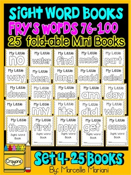 Sight Word BOOKS-ONE PAGE FOLD-ABLE SIGHT WORD BOOKS (SET 4)
