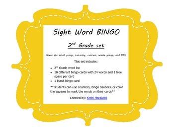 Sight Word Bingo {2nd Grade}