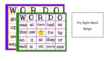 Sight Word Bingo Bundle!