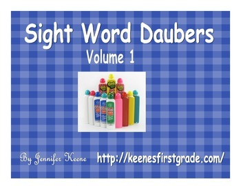 Sight Word Bingo Daubers