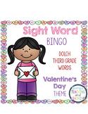 Sight Word Bingo {Dolch Third Grade} Valentine's Day Theme