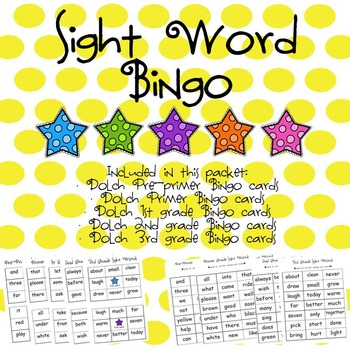 Sight Word Bingo (Dolch Bundle)