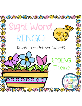 Sight Word Bingo {Dolch Pre-Primer} Spring Theme