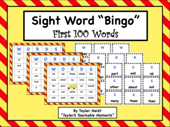Sight Word Bingo- First 100 Words