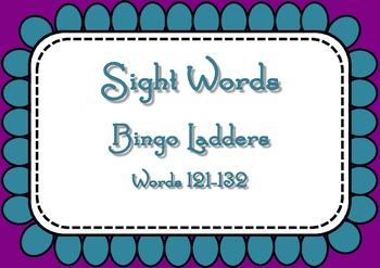 Sight Word Bingo Ladders - words 121-132