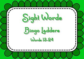 Sight Word Bingo Ladders - words 13-24
