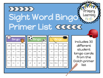 Sight Word Bingo - Primer List
