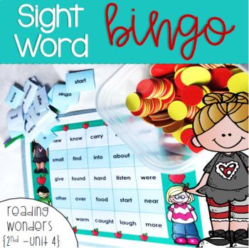 Sight Word Bingo for Reading Wonders 2nd grade {Unit 4}