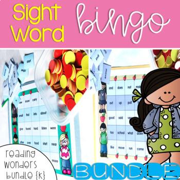 Sight Word Bingo Bundle for Reading Wonders Kindergarten {