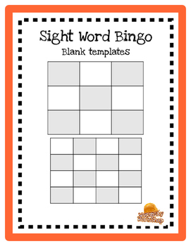 Sight Word Bingo (blank templates)