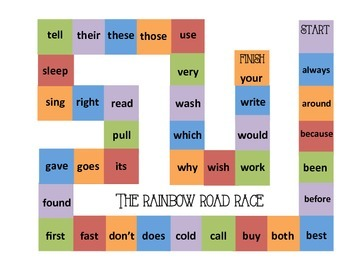 Sight Word Board Game