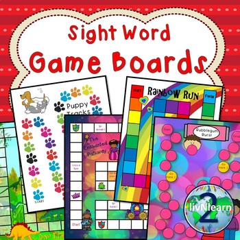 Sight Word Board Games (SET 5)