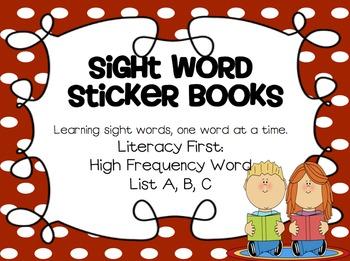 Sight Word Book: HF Word List A, B, C