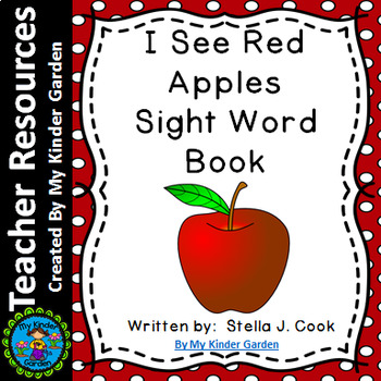 Sight Word Book: I See Red Apples