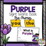 Sight Word Book - PURPLE