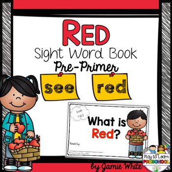 Sight Word Book - RED