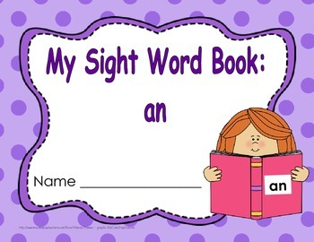 """Sight Word Book and Emergent Reader-""""an"""""""