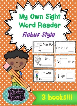 "Sight Word Book ""can go to""  (Rebus Style)"