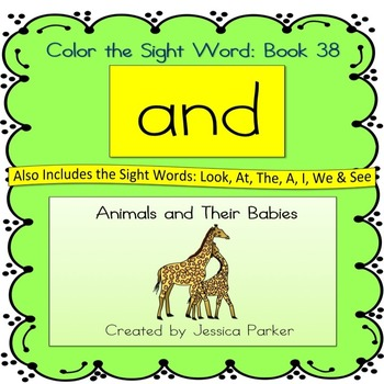 "Sight Word Book for ""And"" Color the Sight Word Book 38: An"