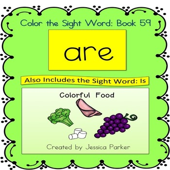 """Sight Word Book for """"Are"""" Color the Sight Word Book 59"""