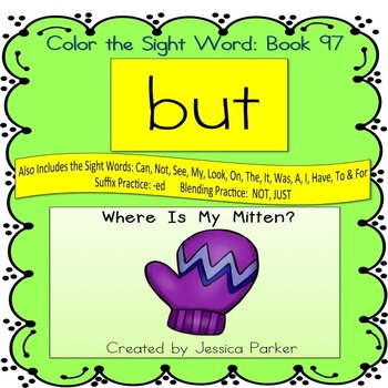 """Sight Word Book for """"But"""" Color the Sight Word Book 97"""