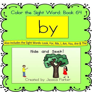 "Sight Word Book for ""By"" Color the Sight Word Book 64"