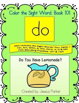 "Sight Word Book for ""Do"" Color the Sight Word Book 101"