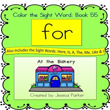 """Sight Word Book for """"For"""" Color the Sight Word Book 55"""