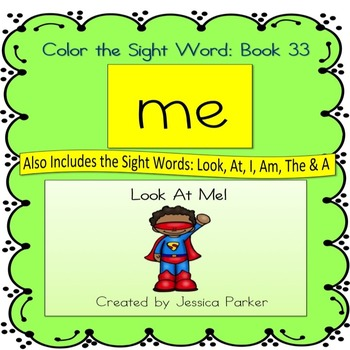 "Sight Word Book for ""Me"" Color the Sight Word Book 33: Loo"