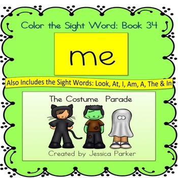 """Sight Word Book for """"Me"""" Color the Sight Word Book 34: The"""