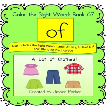 "Sight Word Book for ""Of"" Color the Sight Word Book 67"