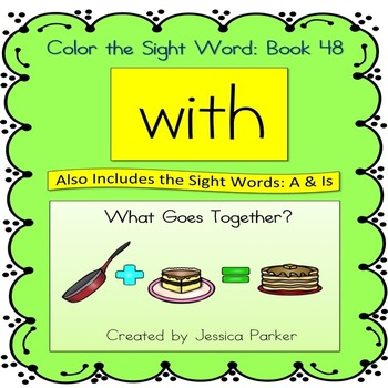 """Sight Word Book for """"With"""" Color the Sight Word Book 48"""