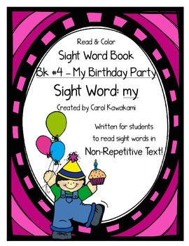 """Sight Word Book for the Sight Word """"my""""; Sight Word Book #4"""