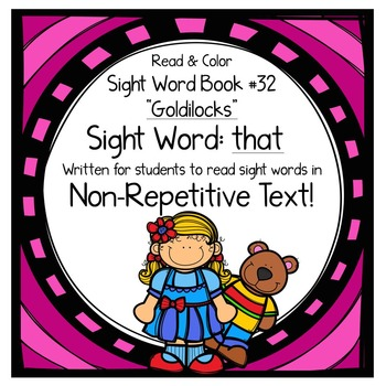 """Sight Word Book for the Sight Word """"that""""; Sight Word Book #32"""