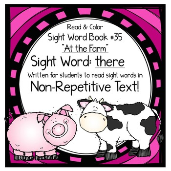 """Sight Word Book for the Sight Word """"there""""; Sight Word Book #35"""