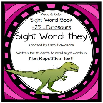 """Sight Word Book for the Sight Word """"they""""; Sight Word Book #23"""