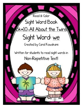 "Sight Word Book for the Sight Word ""we""; Sight Word Book #10"