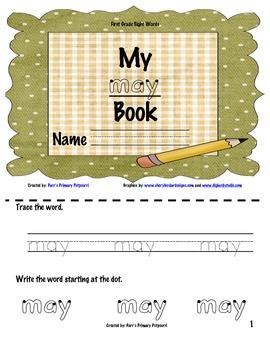 Sight Word Book - may