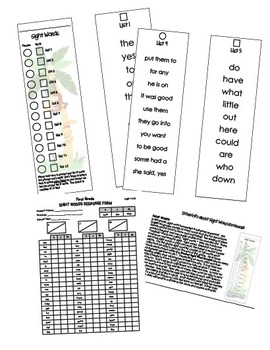 Sight Word Booklet - Grade 2