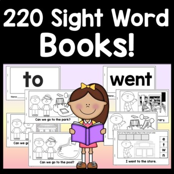 Kindergarten Sight Word Books | Sight Words Kindergarten {